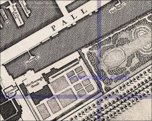 Pall Mall, Rocque, 1746, via Old Bailey Online, courtesy Motco Enterprises Limited Ref: www.motco.com
