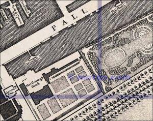 Pall Mall, Rocque, 1746, via Old Bailey Online, courtesy Motco Enterprises Limited Ref: www.motco.com